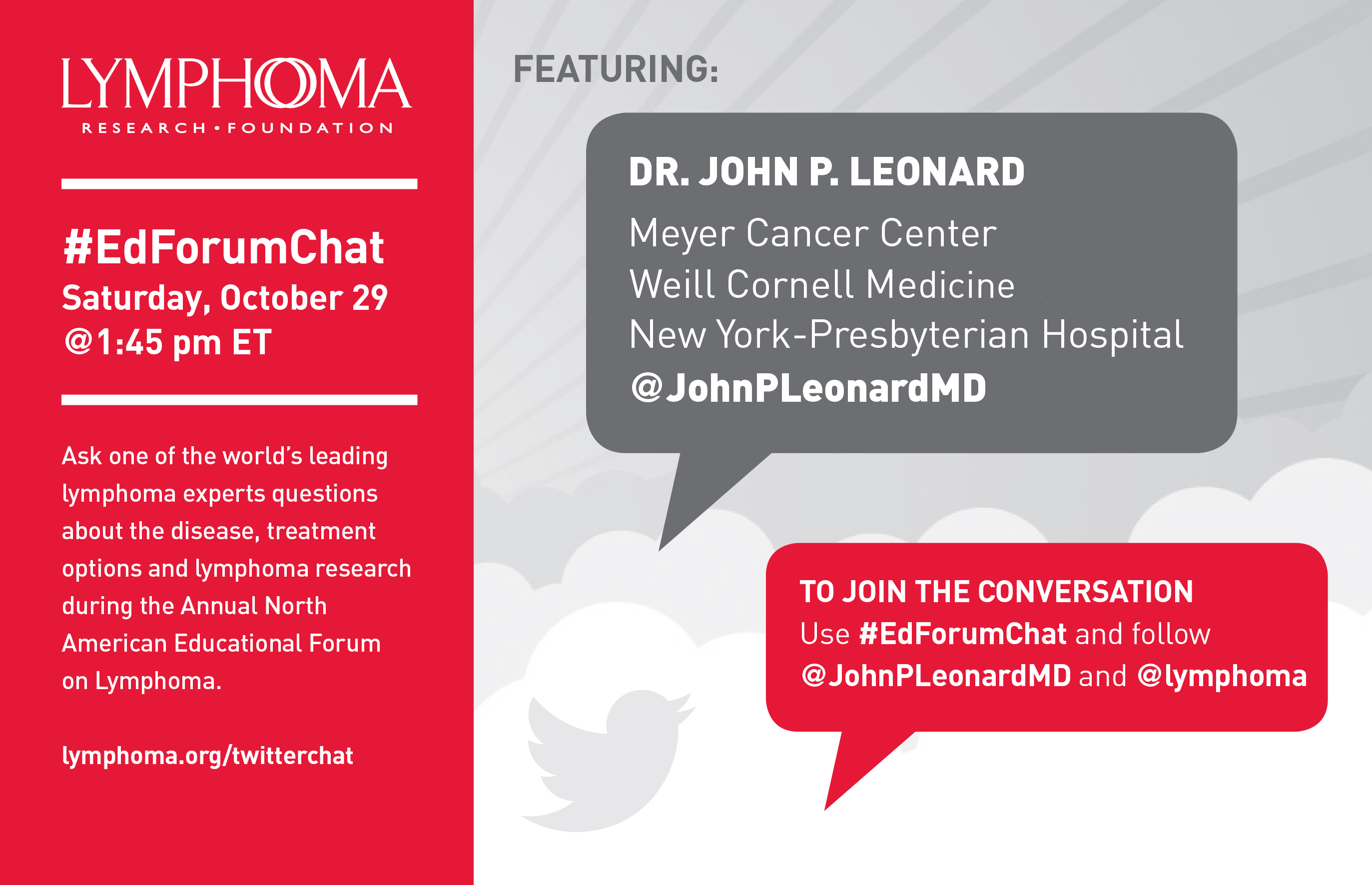 Join a Twitter Chat with Dr  John Leonard – New Developments