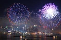 Manhattan fireworks show