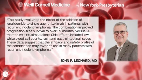 John Leonard MD – New Developments in Lymphoma